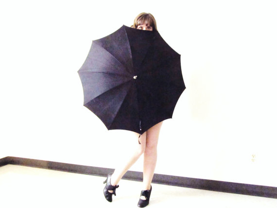 Beautiful Black Parasol from CoyoteMarmalade on Etsy