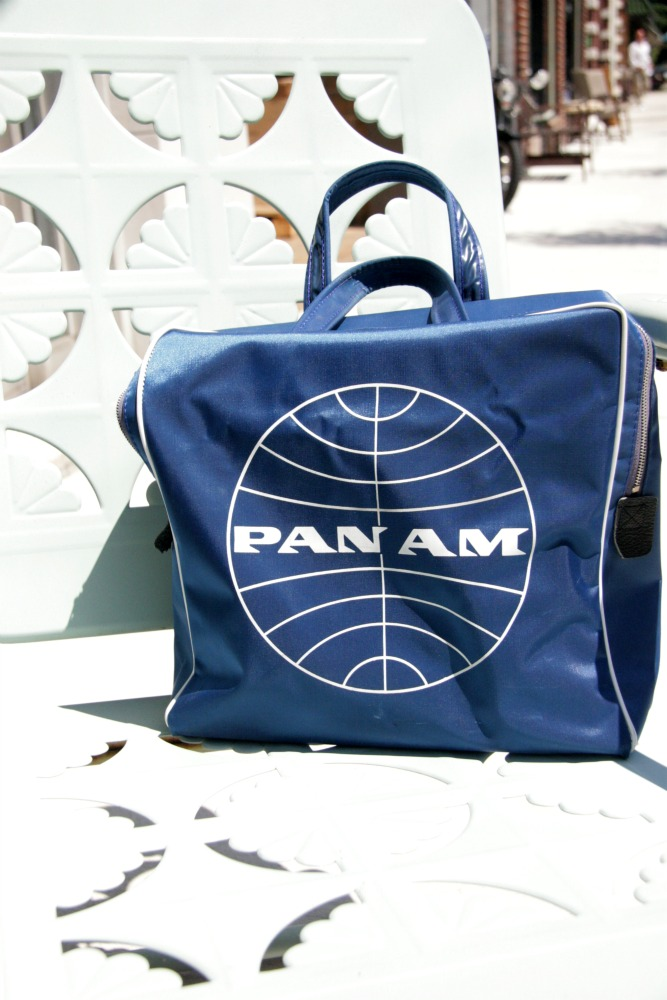 Vintage Pan Am Square Travel Bag